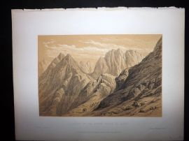 David Roberts Holy Land 1887 Print. Ascent of the Lower Range of Sinai